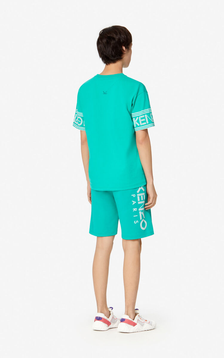 MINT KENZO Logo Shorts for women