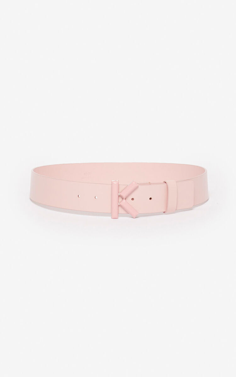 FADED PINK Wide K belt for global.none KENZO