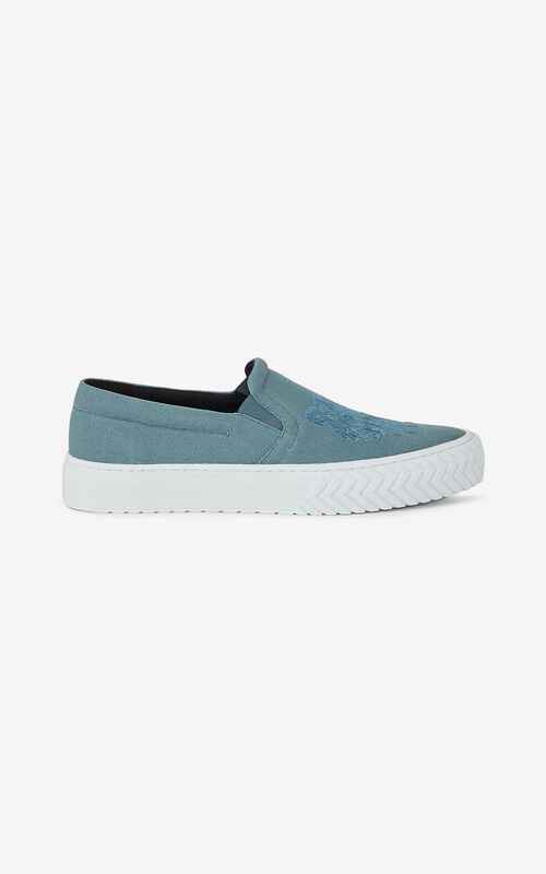 GLACIER K-Skate Tiger laceless canvas sneakers for women KENZO