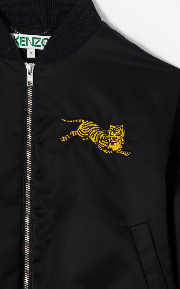 BLACK 'Jumping Tiger' bomber 'Golden Week capsule' for women KENZO