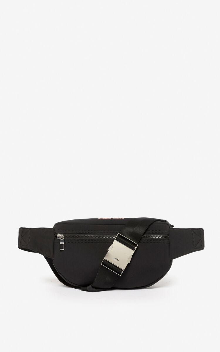 BLACK Tiger neoprene bumbag for unisex KENZO