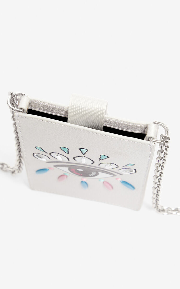 SILVER Eye phone case and chain for unisex KENZO