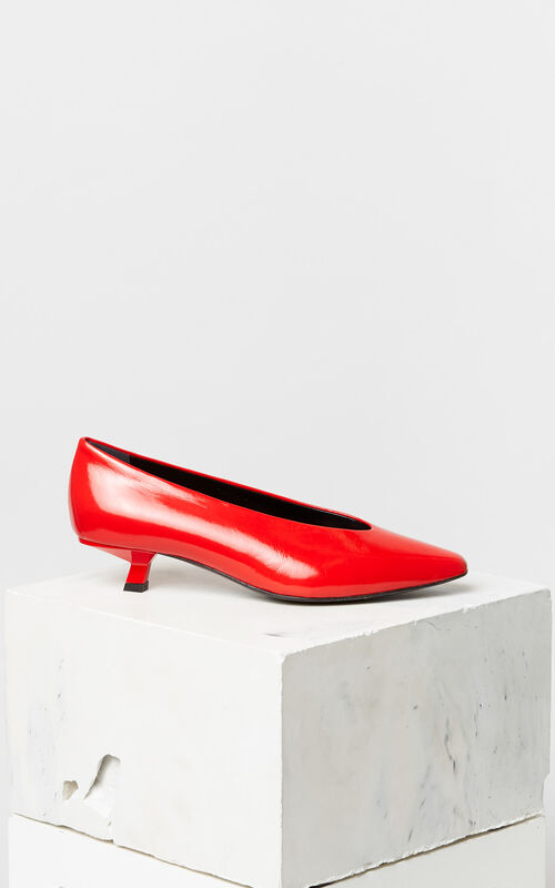 MEDIUM RED Torna patent leather pumps for unisex KENZO