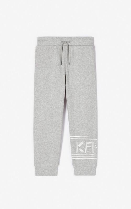 MIDDLE GREY KENZO logo jogging trousers for women