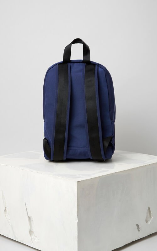 NAVY BLUE Medium Tiger Canvas backpack for women KENZO