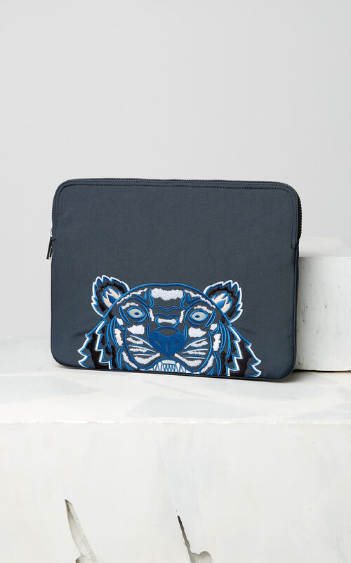 DARK GREY Tiger laptop sleeve for men KENZO