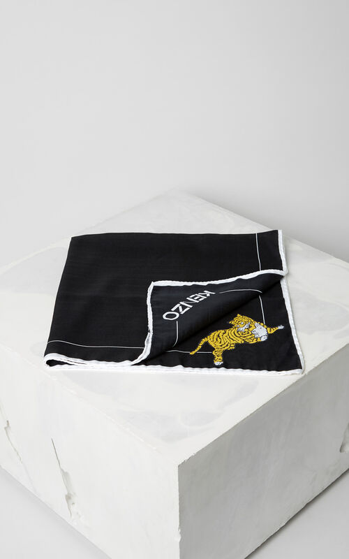 BLACK 'Jumping Tiger' bandana for unisex KENZO