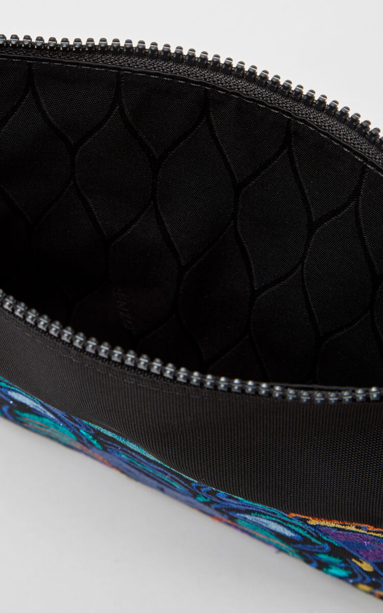 BLACK 'Holiday Capsule Collection' A4 Tiger Clutch Bag for unisex KENZO