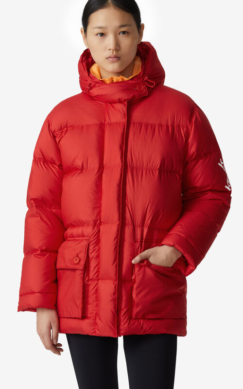 MEDIUM RED KENZO Sport 'Little X' puffer jacket for women