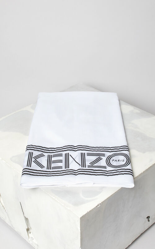 WHITE KENZO logo scarf for women