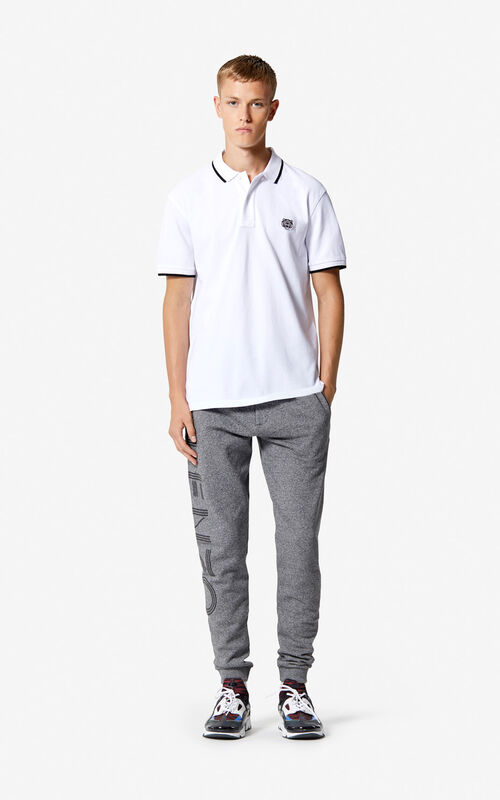 WHITE Regular Tiger Polo for men KENZO