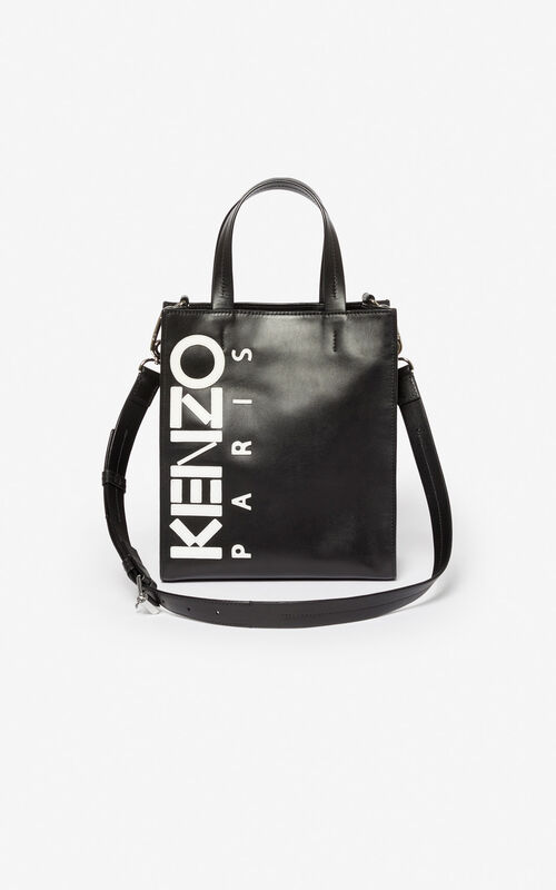 BLACK Kontrast tote bag for women KENZO