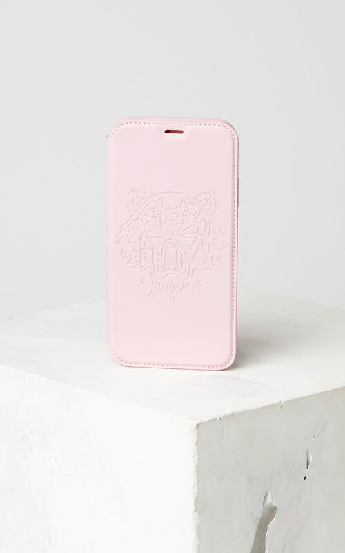 FADED PINK Tiger iPhone X Folio for unisex KENZO