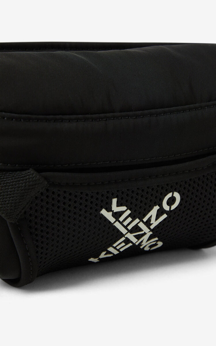 BLACK KENZO Sport small belt bag for men