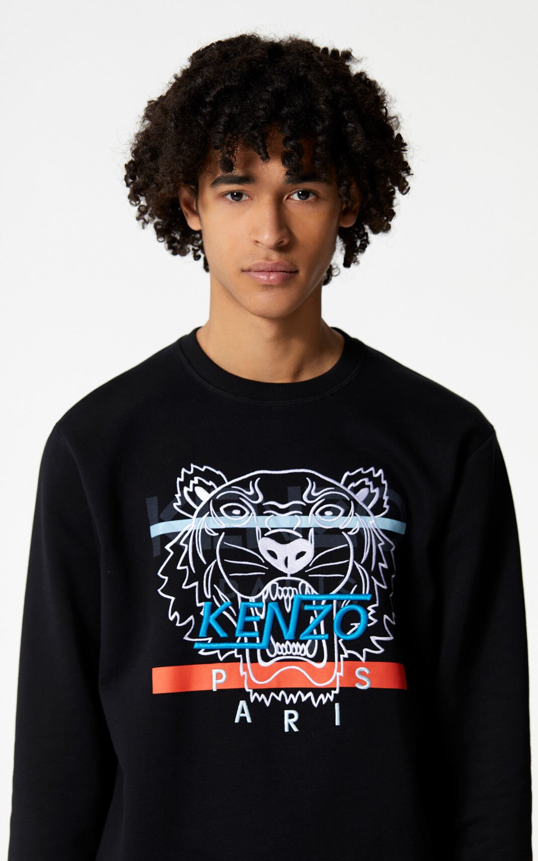 BLACK 'Hyper Tiger' sweatshirt for men KENZO