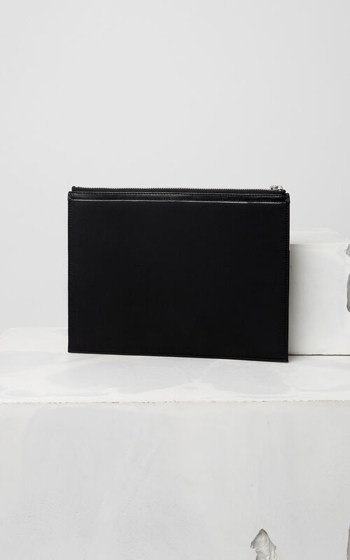 BLACK KENZO Signature clutch for women