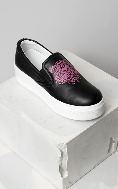Tiger Slip-on Platform, BLACK, KENZO