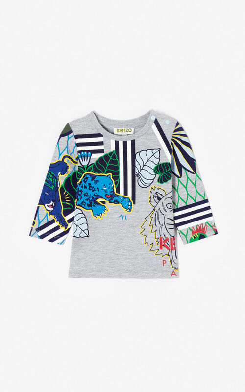 MIDDLE GREY Multi-icon 'Fantastic Jungle' t-shirt for men KENZO