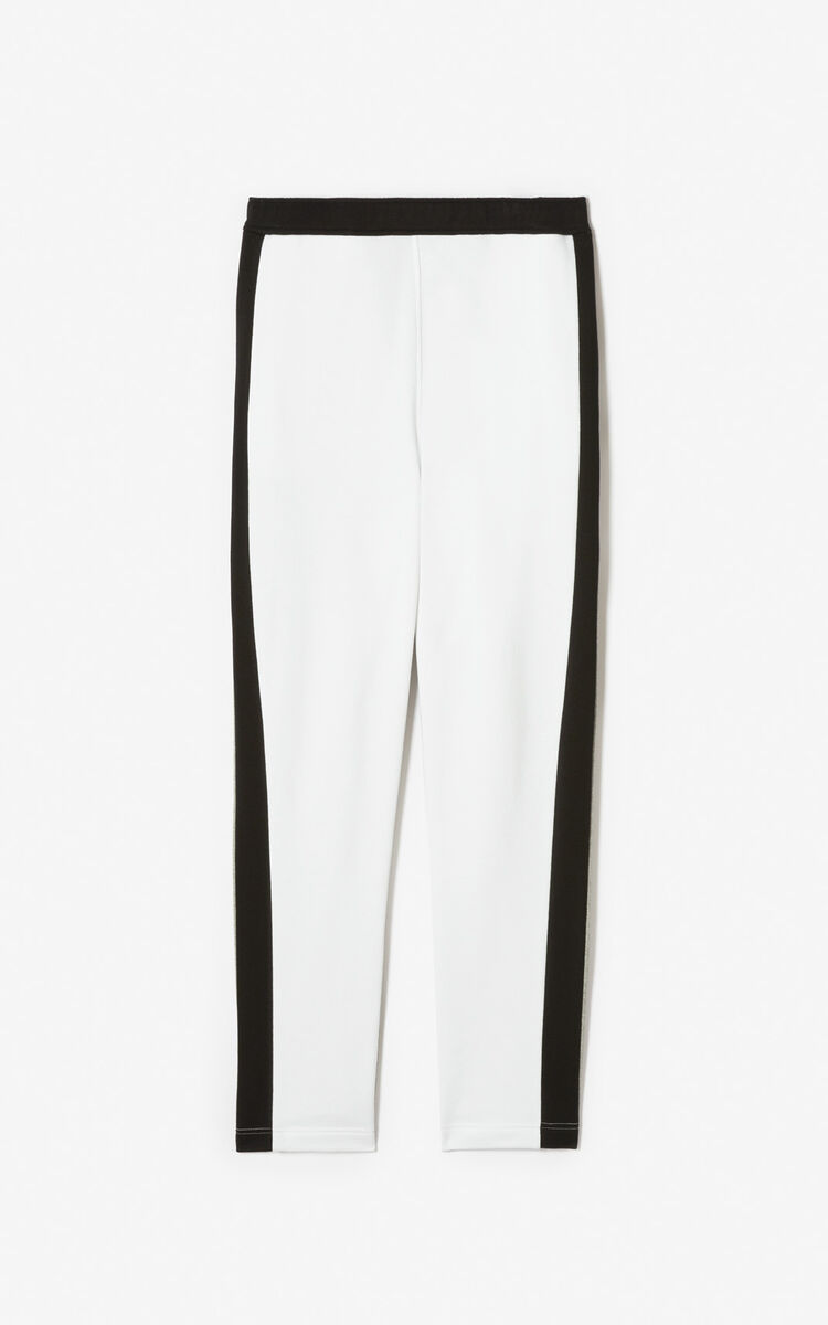 WHITE KENZO logo jogging trousers for women