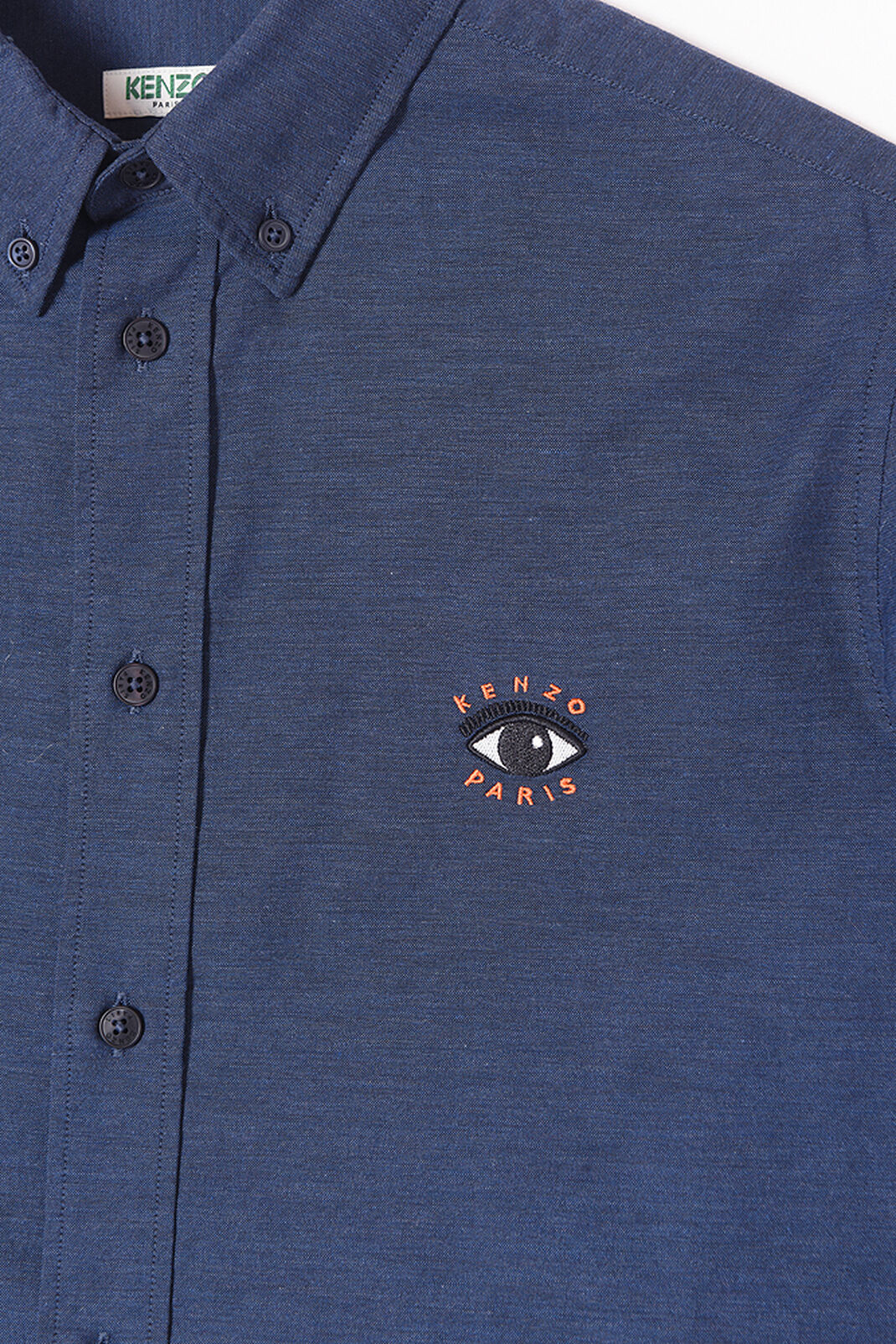 NAVY BLUE Eye Embroidered Shirt for women KENZO