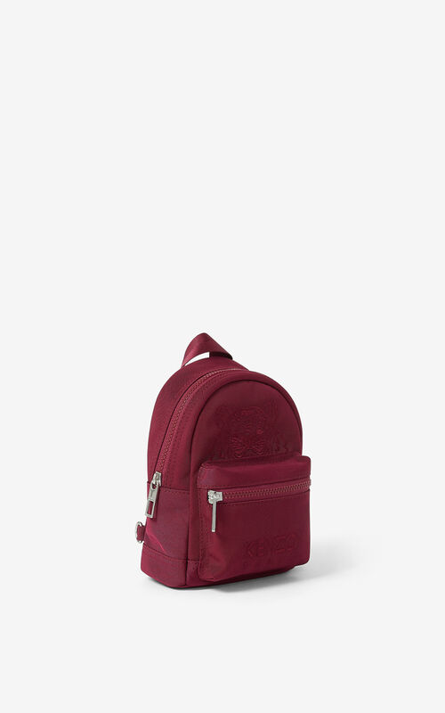 MAGENTA Mini canvas Kampus Tiger backpack for unisex KENZO