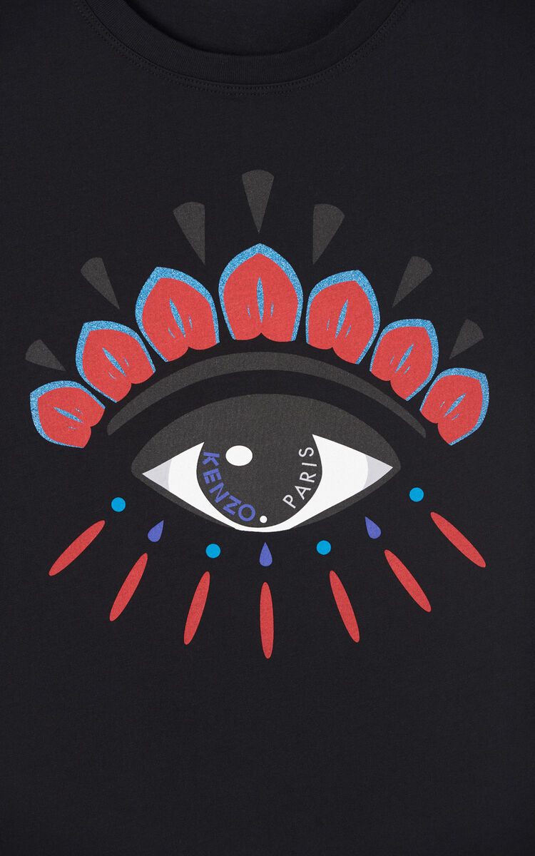 BLACK 'Holiday Capsule' Eye T-shirt for women KENZO