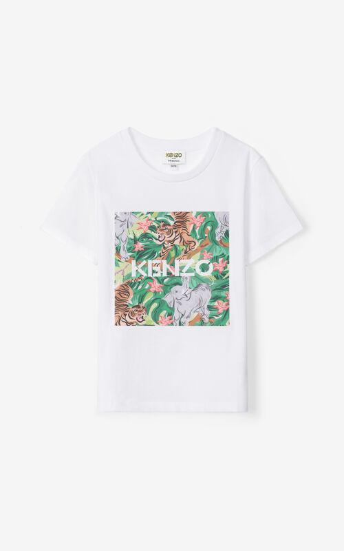 OFF WHITE Printed t-shirt for unisex KENZO