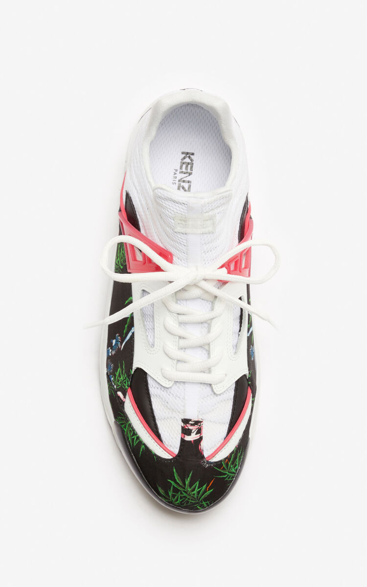BLACK 'Sea Lily' Sonic sneakers for women KENZO