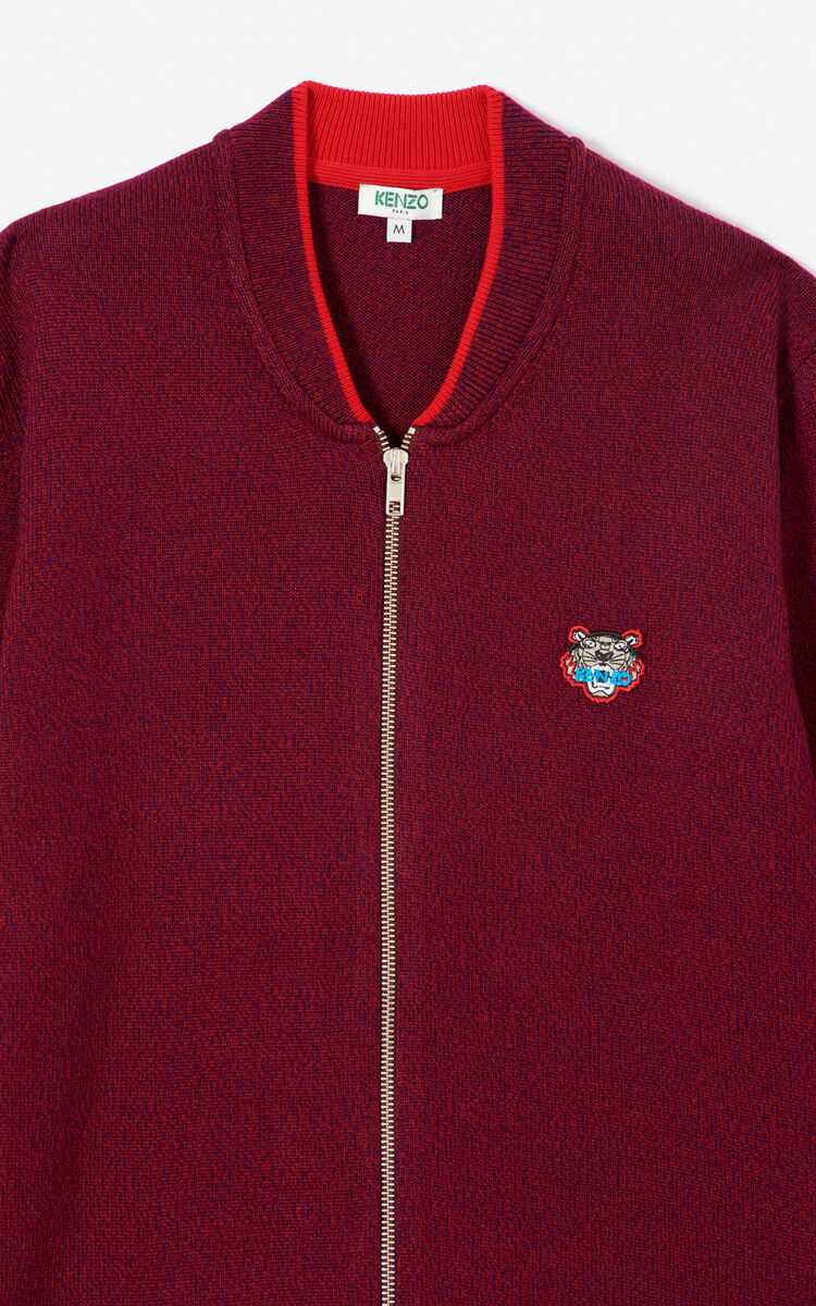 BORDEAUX Zipped Tiger jumper for men KENZO