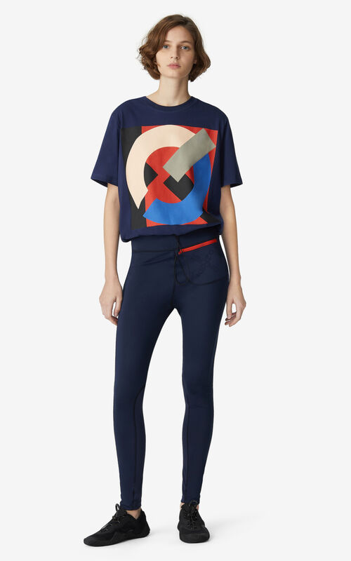 MIDNIGHT BLUE KENZO Sport boxy T-shirt for men