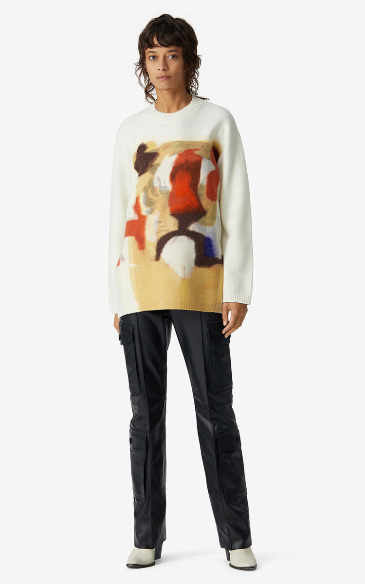 MULTICOLOR Jumper with Jùlio Pomar illustration for women KENZO