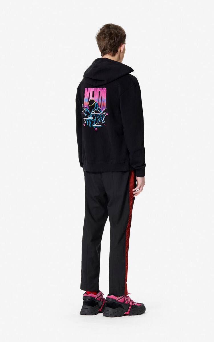 BLACK 'KENZO Mountain' hoodie for men