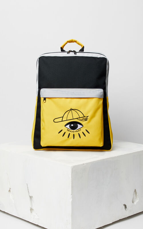 BLACK 'Cosmic' backpack for women KENZO