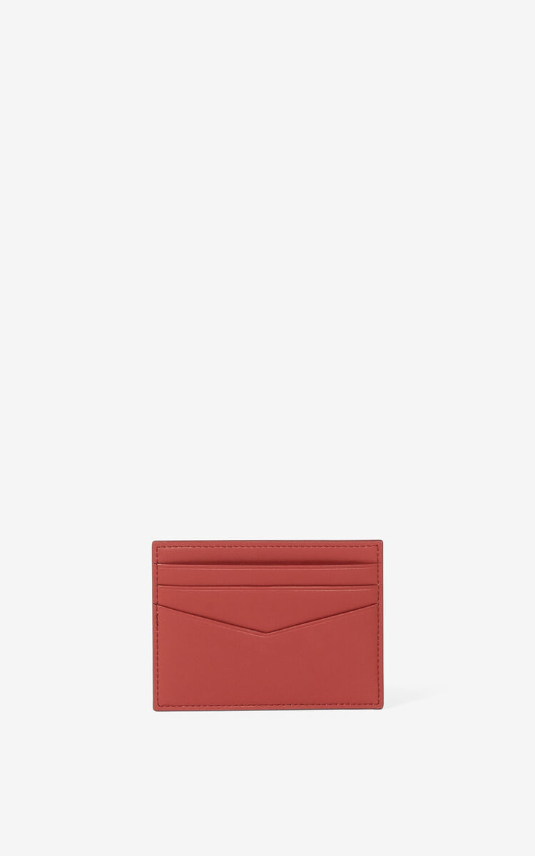 MOROCCAN BROWN KENZO K leather card holder for men