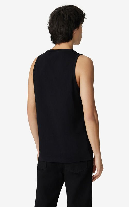 BLACK K-Tiger oversized vest top for men KENZO