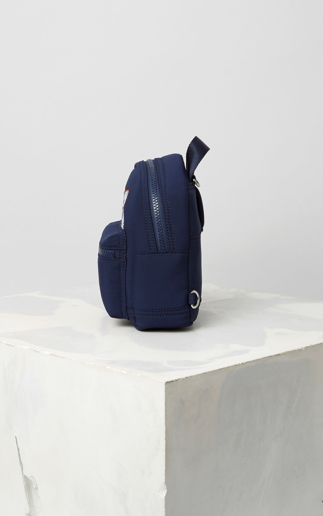 NAVY BLUE Mini Neoprene Tiger Backpack for women KENZO