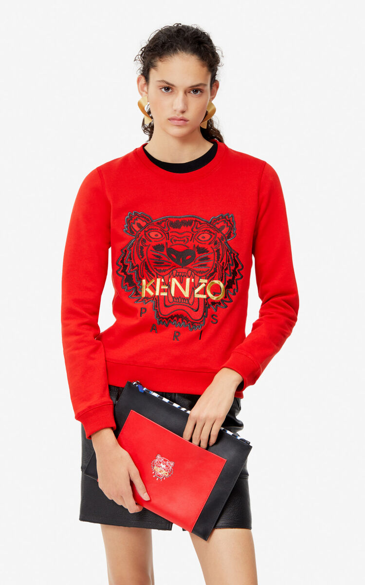 VERMILLION Tiger sweatshirt for women KENZO