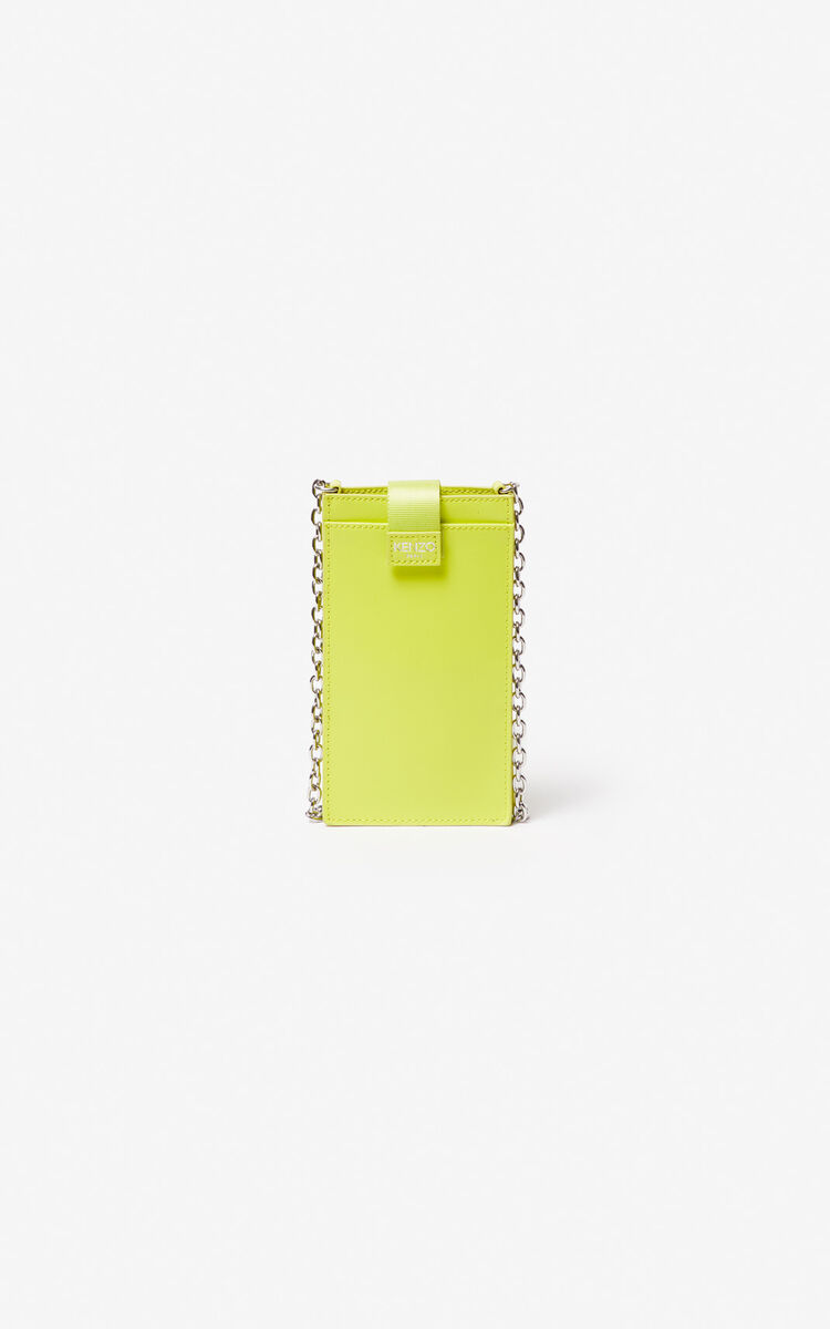 LEMON Eye leather phone case with chain for women KENZO