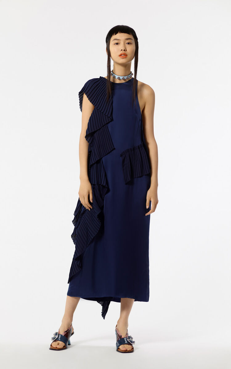NAVY BLUE Asymmetric dress for women KENZO