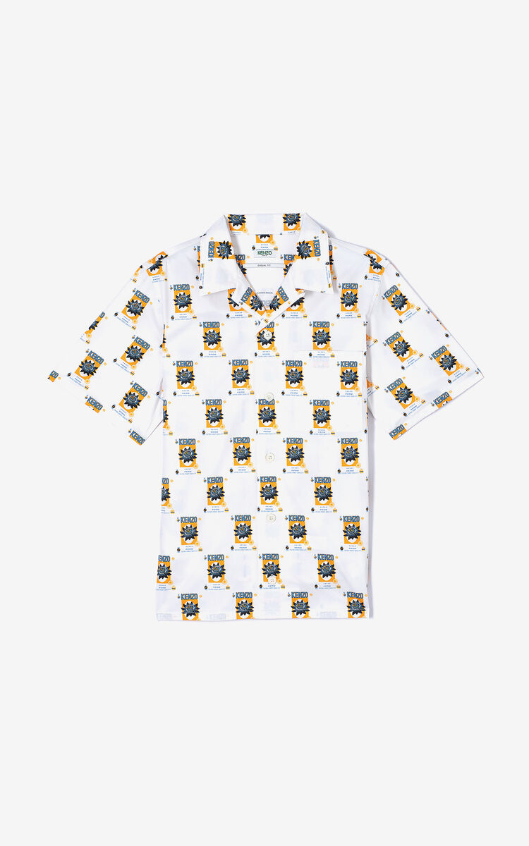 WHITE 'Rice Bags' shirt for men KENZO