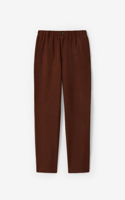 COGNAC Wool jogging trousers for unisex KENZO