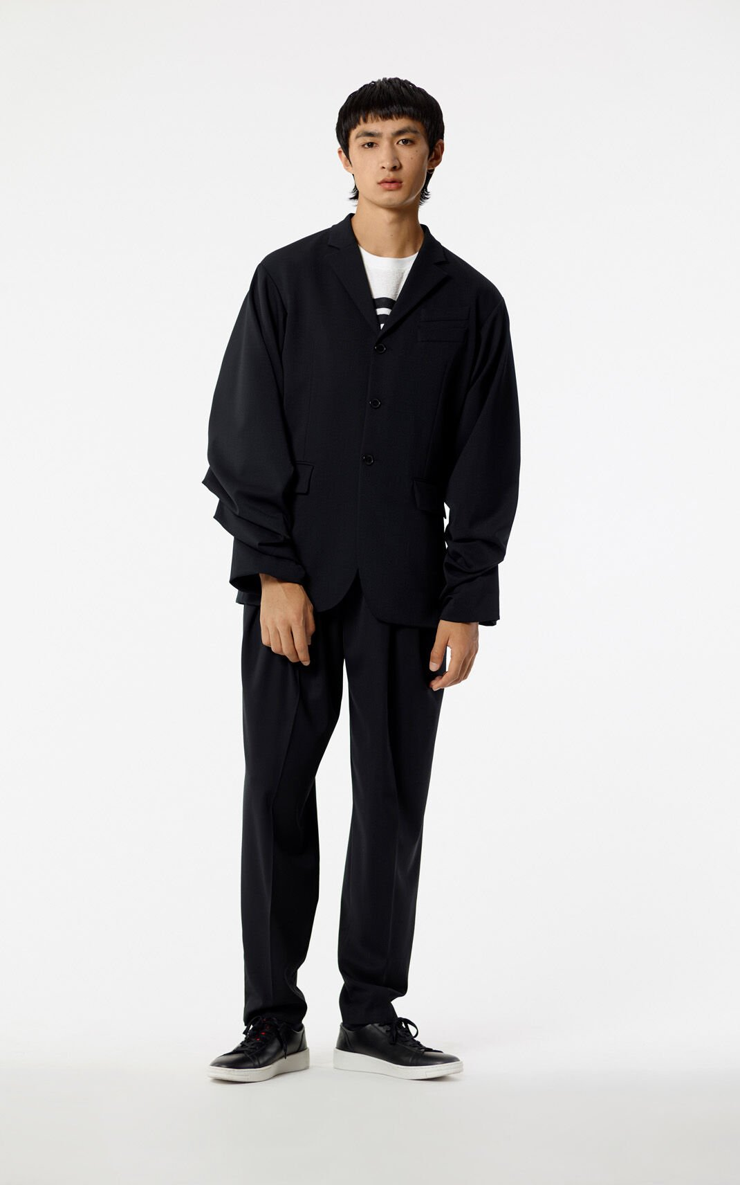 BLACK Puffed-sleeved jacket for men KENZO