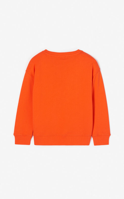MEDIUM ORANGE 'Dragon Tiger' sweatshirt for unisex KENZO
