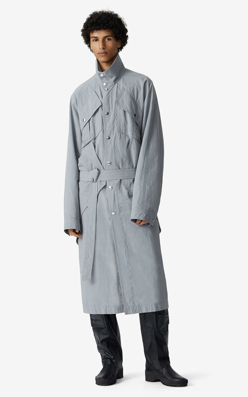 MISTY GREY Long parka for men KENZO
