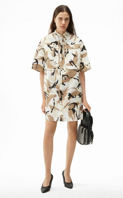 OFF WHITE 'Tropic camo' shirt dress for women KENZO