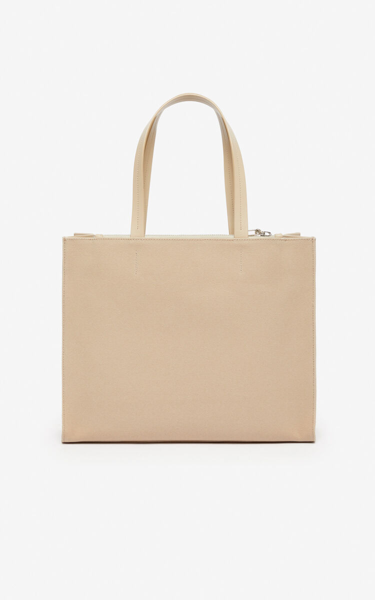 TAUPE Kontrast tote  for unisex KENZO