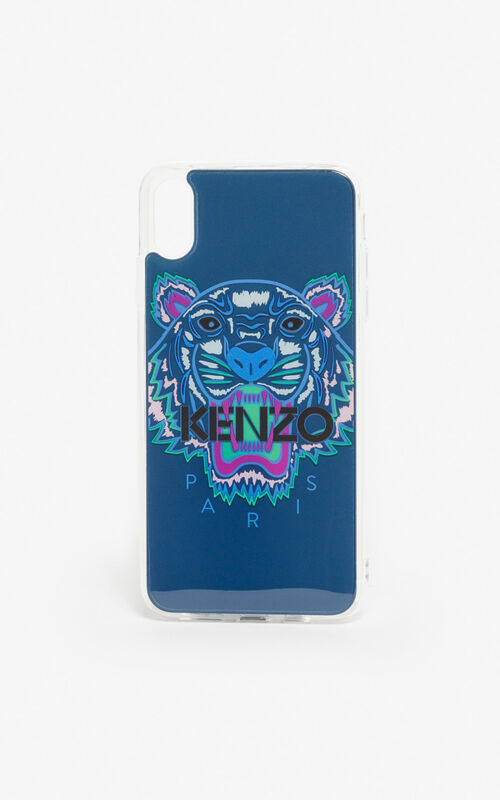 DEEP SEA BLUE iPhone XS Max Tiger case for unisex KENZO