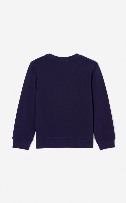 NAVY BLUE 'Frozen' sweatshirt for women KENZO