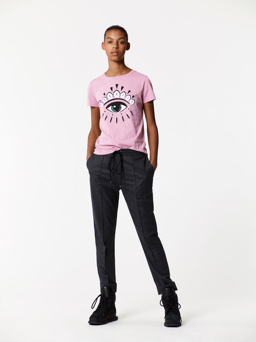FLAMINGO PINK Eye t-shirt for women KENZO