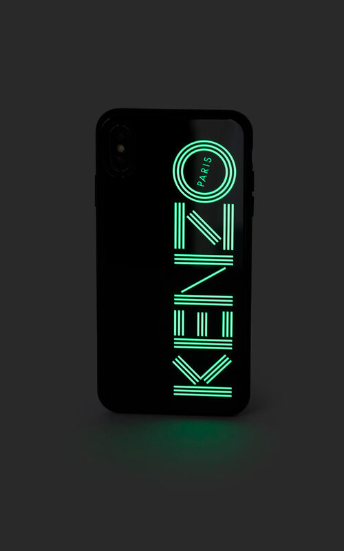 BLACK Fluorescent KENZO Logo case for iPhone XS Max for women